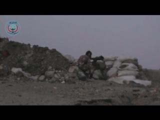 19.10.2015. Сирия. Джеб. Боевики обстреливают из СПГ-9 _ Syria. Militants fired at from the SPG-9