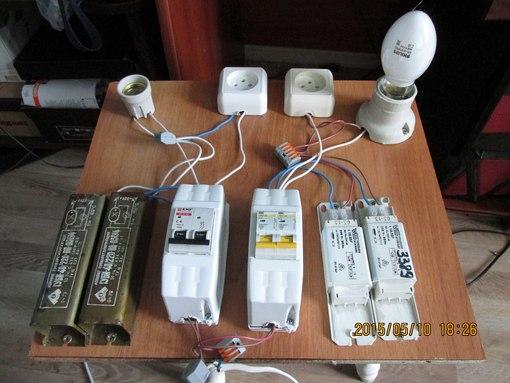 Стенд для испытания ламп ДРЛ