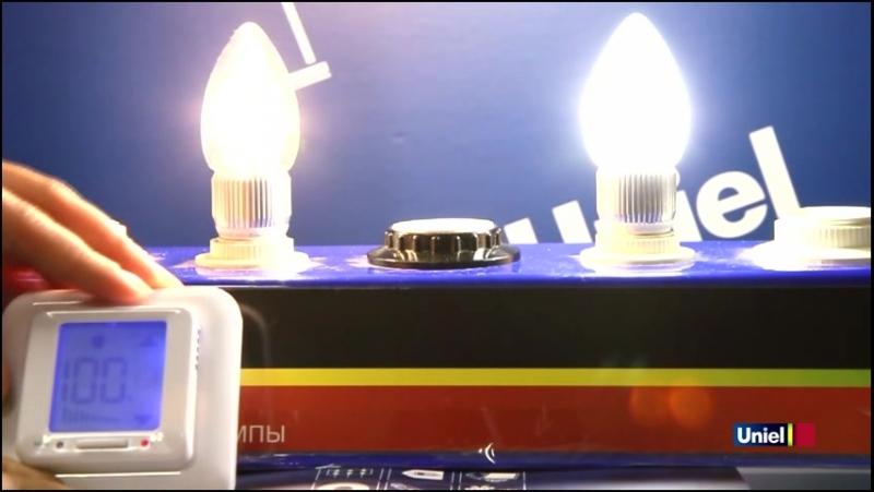 Диммируемая лампа Uniel Crystal 5W E14.