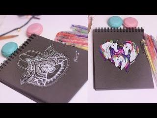 Бесполезные рисовашки: Рисую в своем блокноте/ Hamsa/Unicorn|Fosssaaa