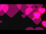 Футаж Розовые сердечки