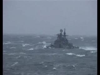 БПК Адмирал Ушаков в шторм 7 баллов