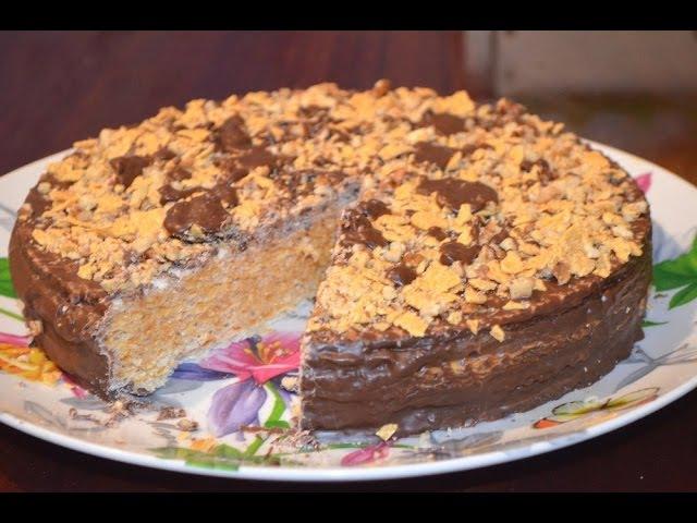 Вафельный торт из готовых коржей - очень простой рецепт.