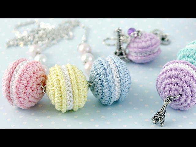 Вязаные сладости ♥ Пирожные Macarons крючком ♥ Вяжем амигуруми