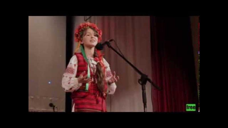 Роксолана Мандар - переможниця конкурсу юних читців поезії «Твій Шевченко»