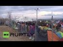 Греция: Беженцы сделал последний царапают на пути Балкан, как границы ЕС ужесточить.