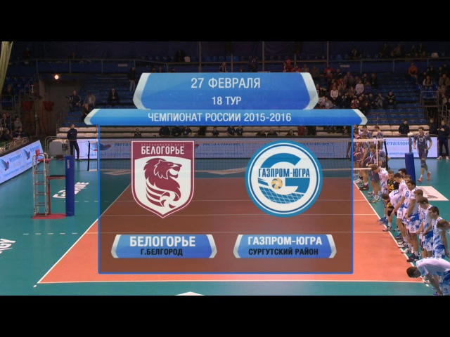 Волейбол. «Белогорье» – «Газпром-Югра» (27.02.2016)
