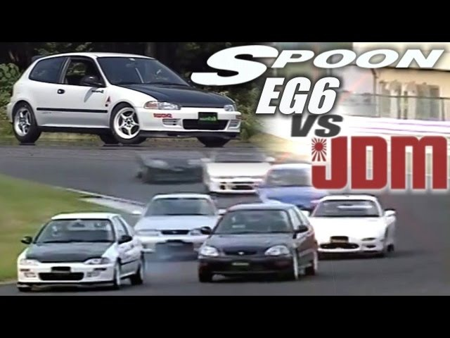[ENG CC] Spoon Civic EG6 having a laugh at R33 GT-R, RX-7, Supra and S14 Silvia HV17