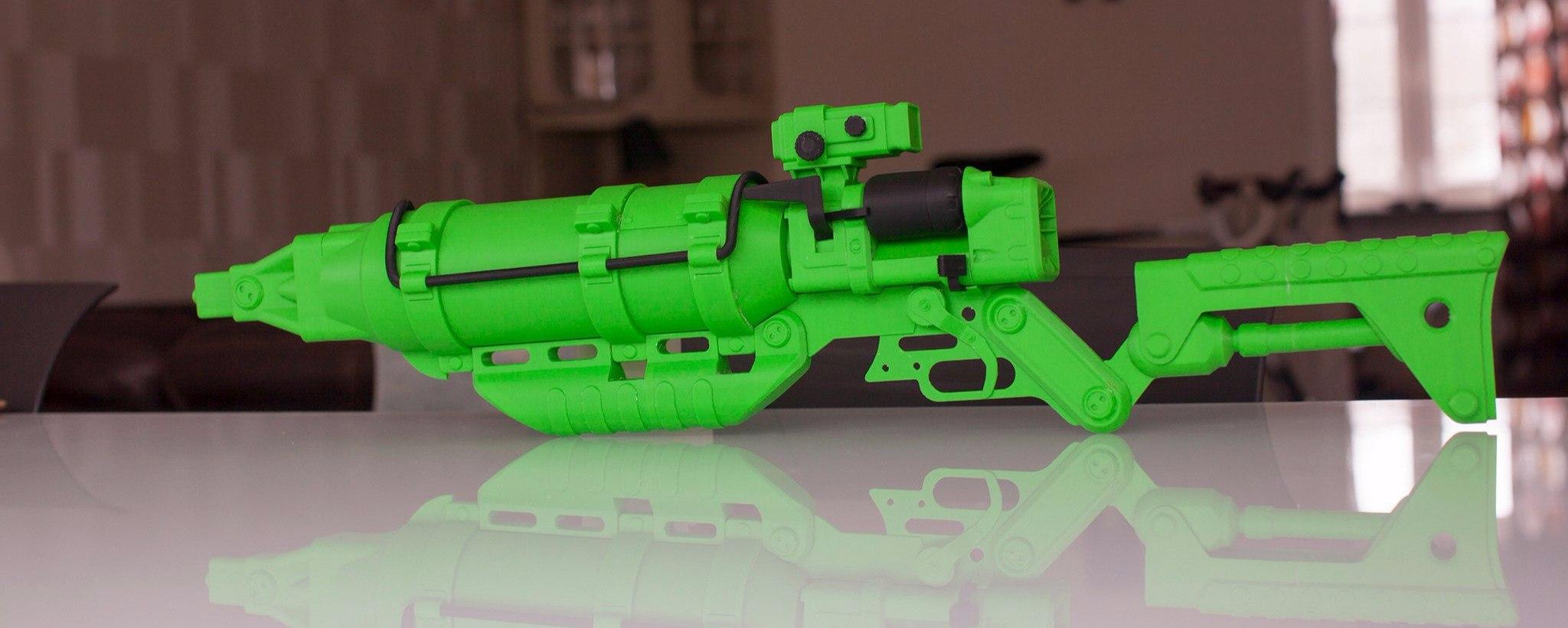 Распечатай на 3D принтере лазерную винтовку из Fallout4