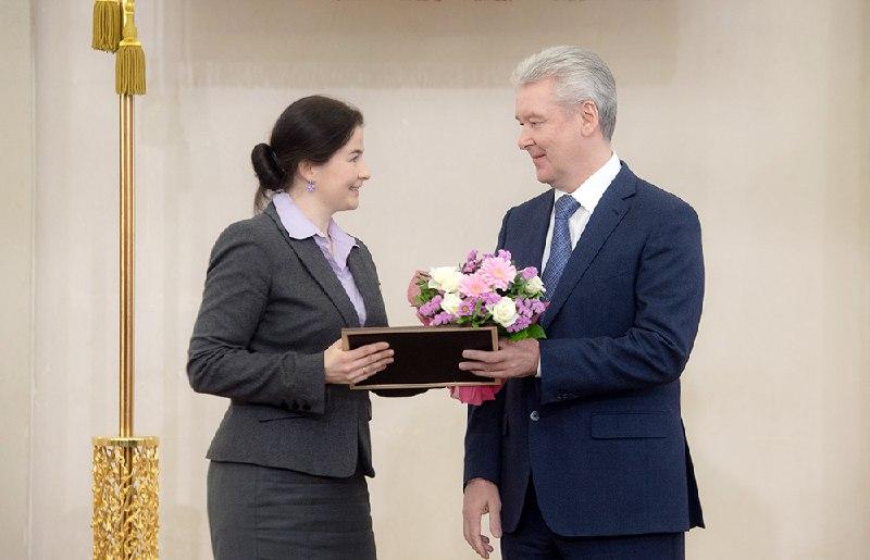 Собянин наградил премиями Правительства Москвы 48 молодых ученых