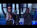 Tinie Tempah and Theo Hutchcraft (Hurts) - Men In Black Bring The Noise dancing