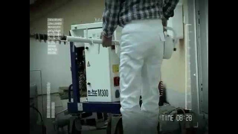Промо видеоролик о штукатурной станции m-tec M300