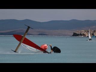 Austrian DN - Ice Yacht Racing Team at Lake Baikal, Siberia, Russia - 2016