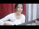 Khmer cute girls playing guitars and sing