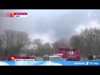 В Приморском крае во время тренировочного полета разбился военный самолет Су-25, пилот жив