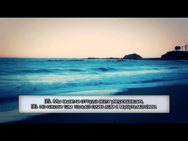Сура 51 «Рассеивающие». Анас аль Гамди. [HD]