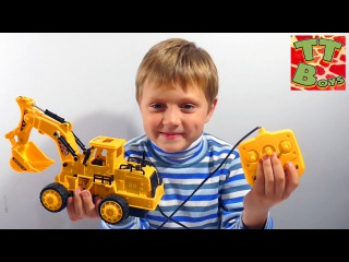 Excavator. Video for kids – unboxing toys trucks. Construction Vehicles. Cars Toys Review Episode 8