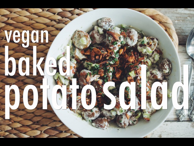 VEGAN BAKED POTATO SALAD | hot for food