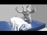 Новый алгоритм симуляции воды