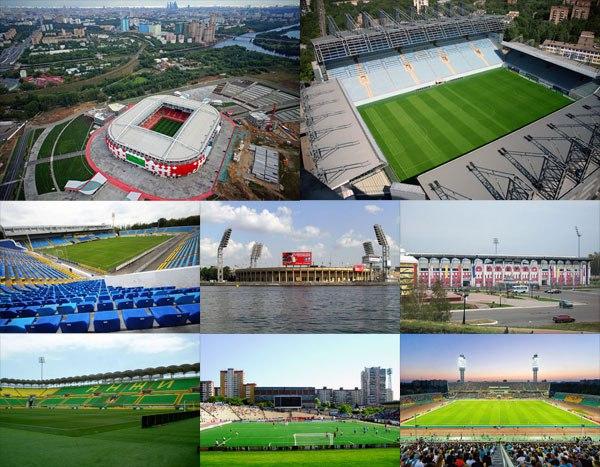 Стадионы и результаты 1 тура Российской премьер-лиги