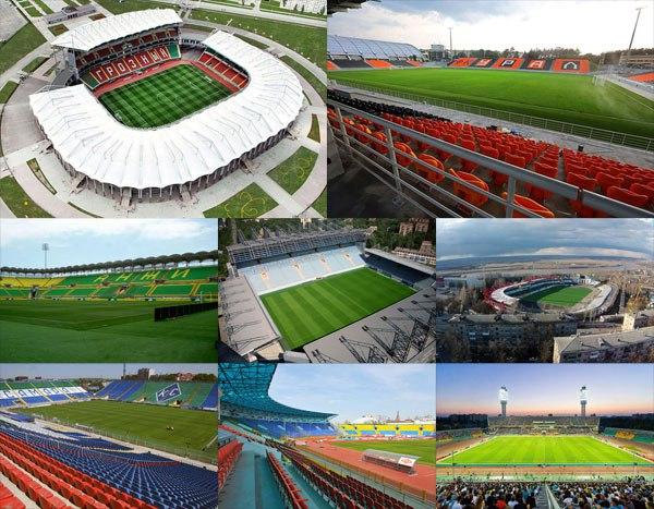 Стадионы и результаты 4 тура Российской премьер-лиги
