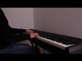 X-Files theme music, piano variation from the ep.Triangle