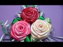 Как сделать розы из атласной ленты К 8 марта! Вытворяшки