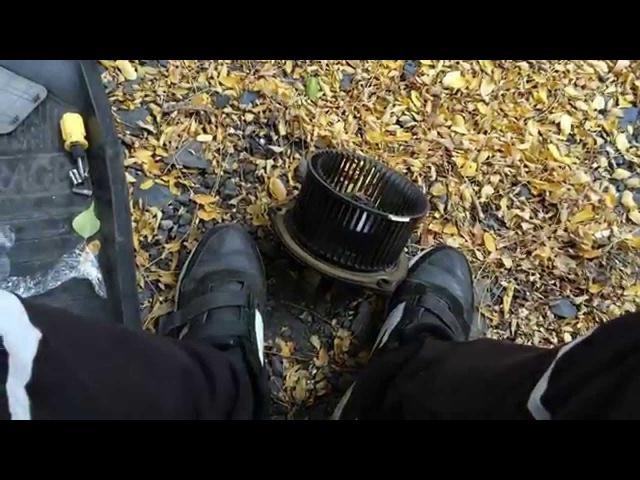 6 Замена мотора отопителя Лада Калина Замена мотора печки