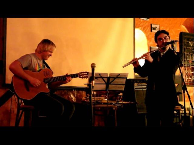 Sasha Rodovsky, Anton Kotikov - Funky improvisation (Guitar, Flute Beat Box)