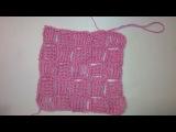 2 Топ по диагонали крючком Узор квадратики по диагонали Crochet patterns diagonally square