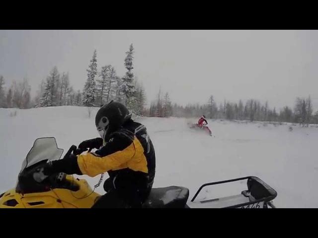 Покатушки на снегоходах (Новый Уренгой) Polaris RMK Assault , Ski-Doo Tundra 550.