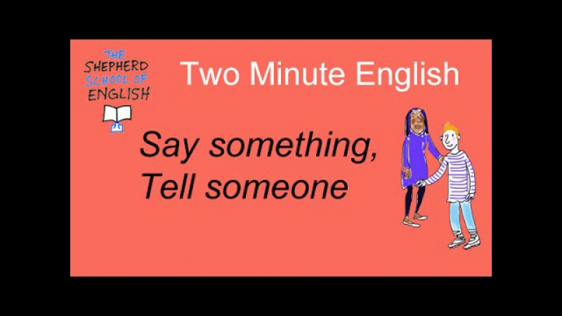 Learn English - the difference between SAY and TELL