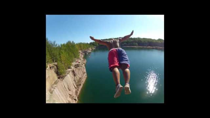 Cliff Jumping High Diving Extreme Suomi Finland 2015 full HD