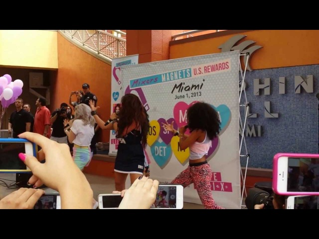Mixers Magnets Miami, Little Mix performing DNA