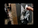 Instructional how to draw drapery demo from Tan's Fine Art Studio, by Zimou Tan