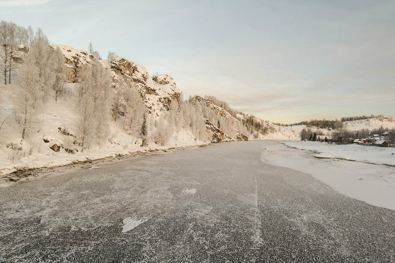 Скалы на берегу Косьвы