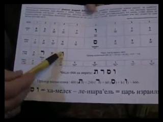 Число 666. Алфавит Огам, штрих код не нововведение.