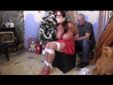 GOLDIE BLAIR PACKED UNDER A CHRISTMAS TREE
