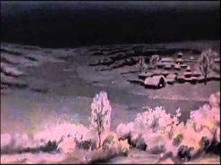 Футаж для видеомонтажа   зима, ночь, метель, снег