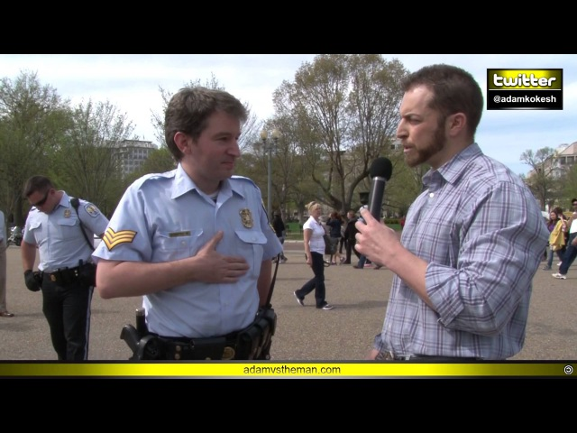 Adam verbally body slams, chokes out cops at White House KOKESHED - YouTube