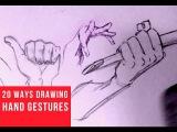 20 Ways Drawing Hand Gestures