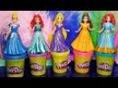 Disney Princess Play Doh Magiclip Fashion Dresses Принцессы Дисней Создай Бальные платья