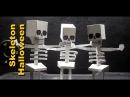 Как сделать скелет из бумаги на Хэллоуин своими руками / Поделки на Хэллоуин Sekretmastera
