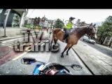 ДПС погоня за мото и квадроциклом, байкеры уходят от полиции США и Россия