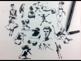 Gesture Drawing &amp People Sketching with a Brush Pen