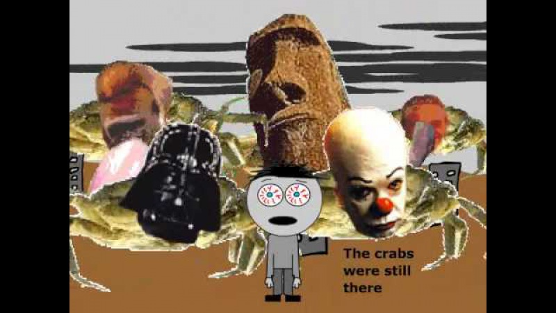 Crab flash video (A frightened boy by Joel Veitch)