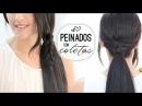 Peinados con coletas fáciles y rápidas Easy hairstyles