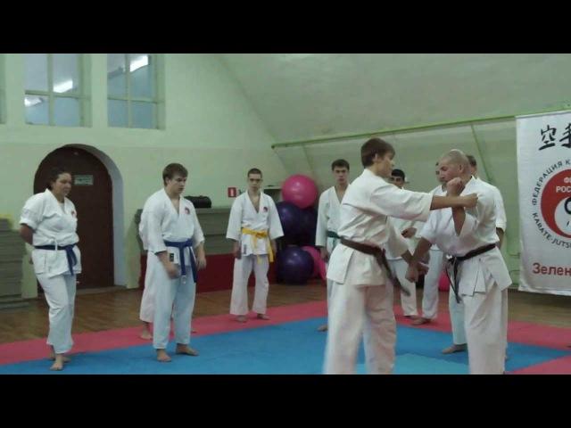 Самозащита с помощью ката Сётокан. Вадим Мороз, 7-й дан.