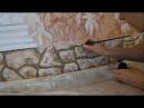 Мастер класс Как сделать декоративный камень из фасадной штукатурки и расписат