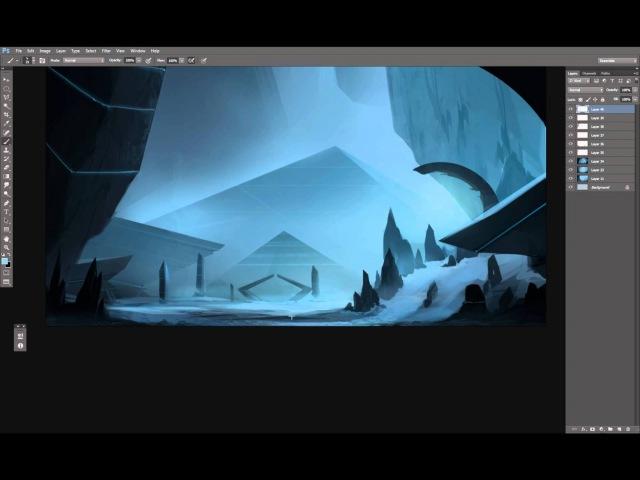 Digital Painting - Landscape concept art - Time-lapse